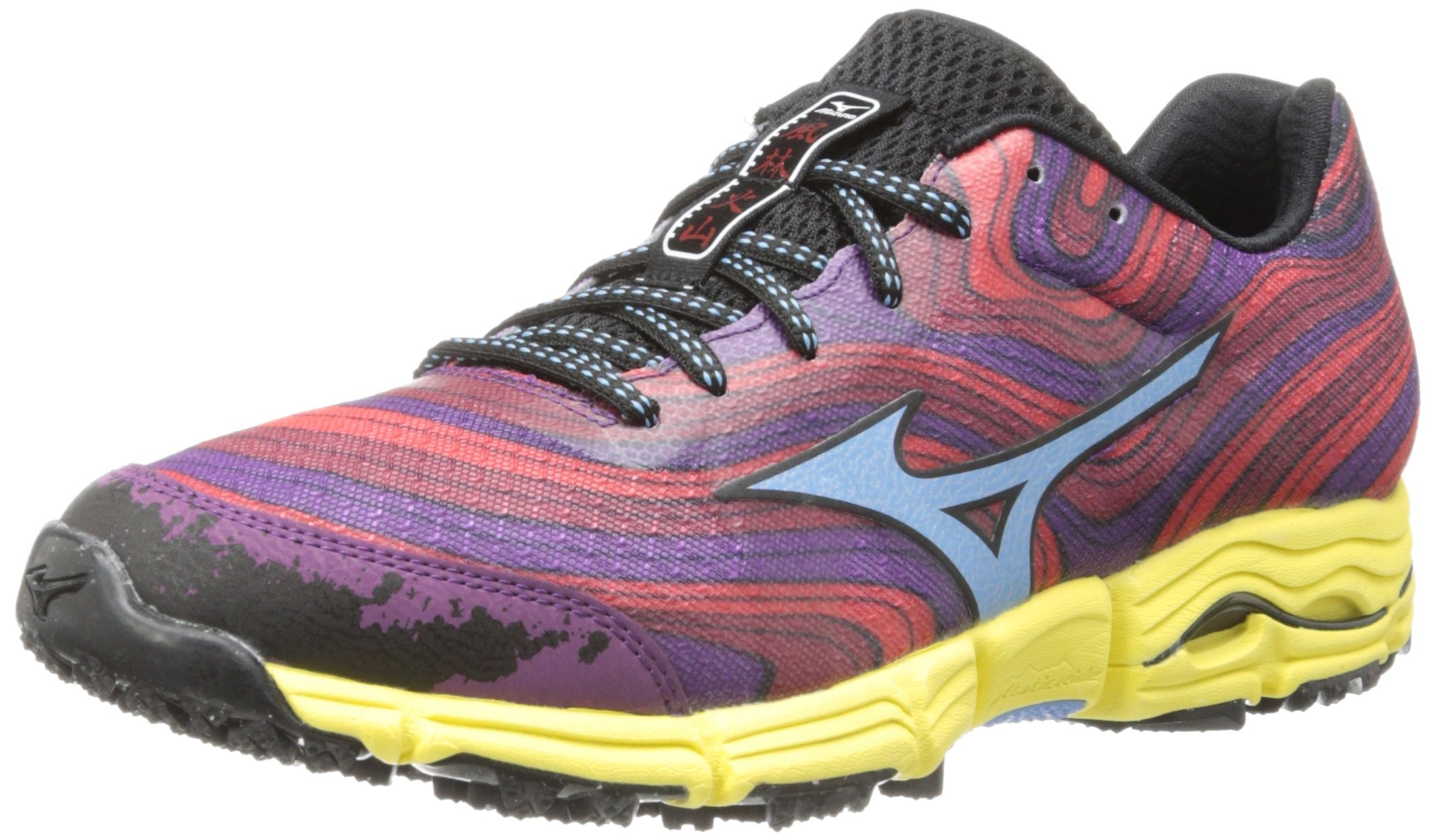 Mizuno Women's Wave Kazan Trail Running Shoe,Chinese Red/Alaskan Blue/Purple Passion,8.5 B US