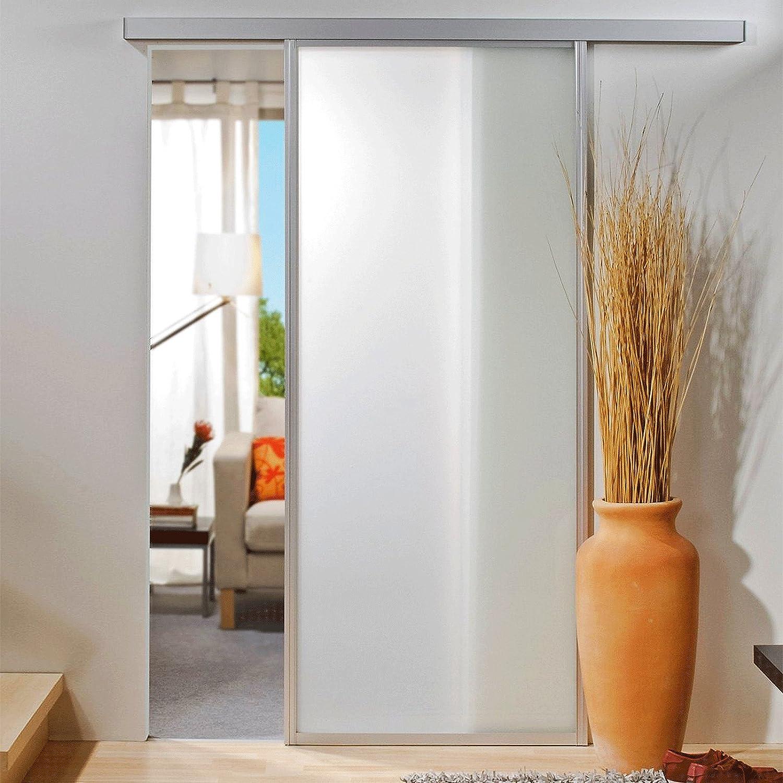 Puerta corrediza Puerta Corredera de Cristal 740 x 2035 mm con umlaufendem 33 mm de aluminio perfil habitaciones Puerta Puerta de Cristal: Amazon.es: Bricolaje y herramientas