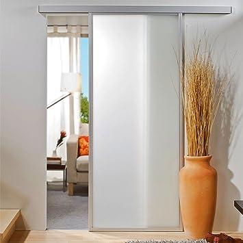 Schiebetür weiß glas  Glasschiebetür Schiebetür Glastür Zimmertür Tür VSG weiß matt ...
