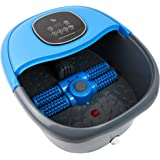 FOOT CURE Foot Spa Massager Basin – Heated Electric Foot Bath Tub with Automatic Massage Rollers & Temperature Control – Luxu