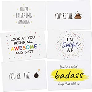 Savvy Mom & Co. Congratulations Gifts for Women, Employee Appreciation Gifts, Positive Affirmation Cards for Women, Inspirational Cards, Motivational Cards, Encouragement Cards (36 Cards, Size 4X6)