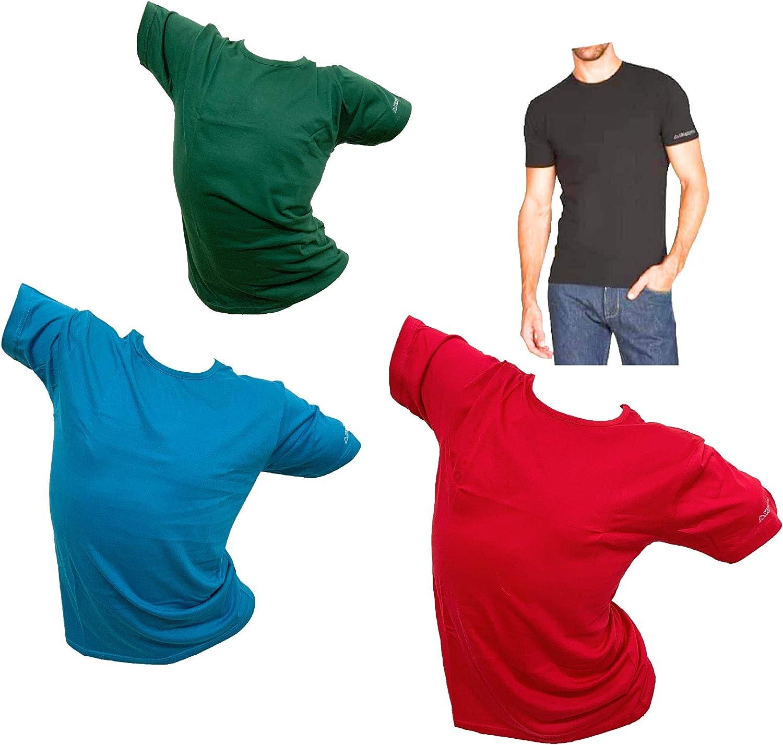 Maglia Intima Bianco E Nero Kappa T-Shirt Uomo Offerta 3 Pezzi in Cotone Pettinato Colorata Girocollo E Scollo V T Shirt Maglia Uomo