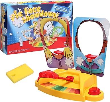 Befied Cara Splash Desafió Pastelazo Pie Face Showdown Juego de Mesa Doble Cara par 2 Jugadores Regalo de Navidad: Amazon.es: Juguetes y juegos