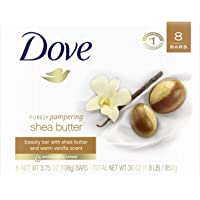 8-Count Dove Shea Butter 3.75 oz Beauty Bar for Softer Skin
