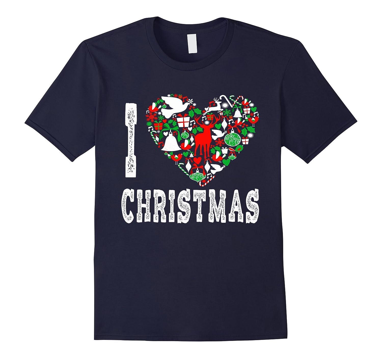 I Love Christmas T-Shirt Heart Design Holiday Icon Xmas Cute-FL