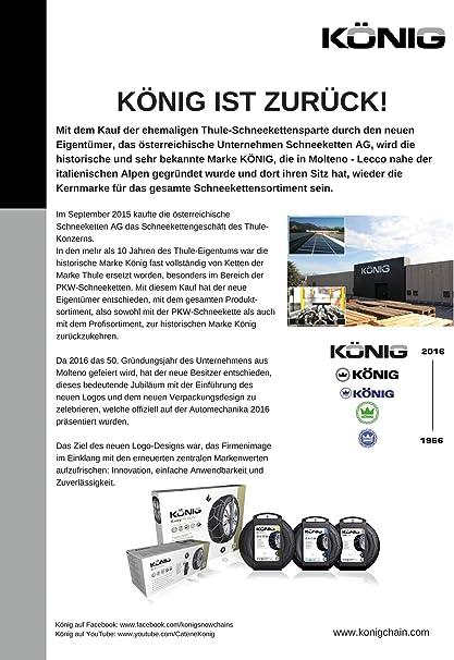 Schneekette König Cb 12 Pkw Für Die Reifengröße 255 35 R19 Preis Leistungs Sieger 1 Satz 2 Stück Schneeketten Im Set Mit Hochwertigen Handschuhen Auto