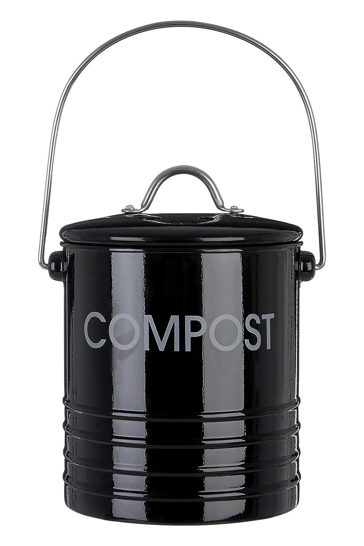 Premier Housewares Compostiera con Maniglia, Nero 0510019