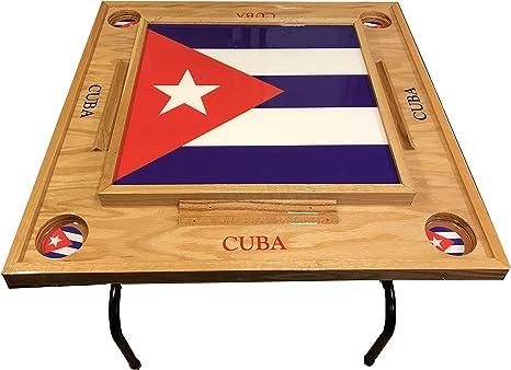 latinos r us Domino de Bandera de Cuba Bandera de Mesa con – Full: Amazon.es: Deportes y aire libre