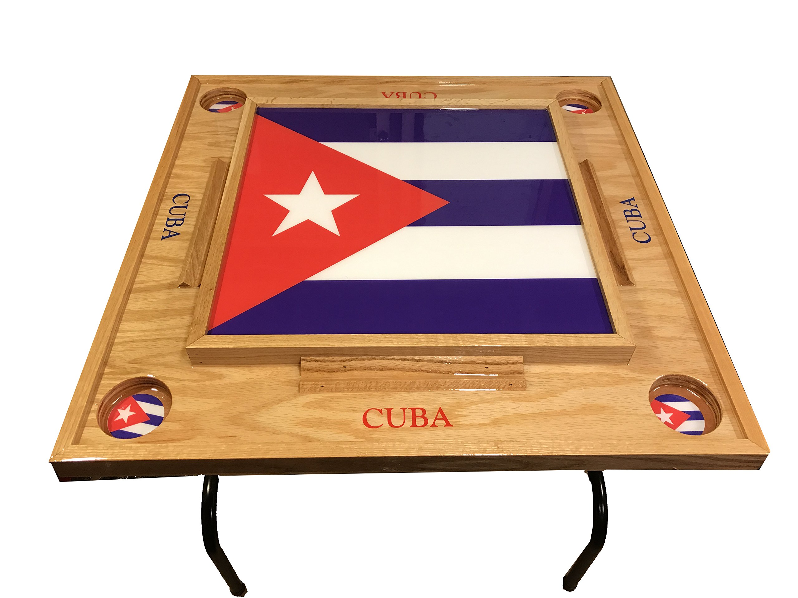 Cuba Flag Domino Table with Flag -Full by latinos r us