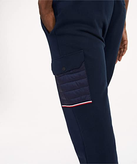 Tommy Hilfiger Hombres Medios Mixtos Pantalones de chándal Marina ...