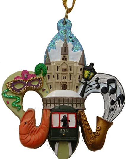 New Orleans Fleur De Lis Scenery Christmas Ornament with Free Drawstring  Pouch/ Bag - Amazon.com: New Orleans Fleur De Lis Scenery Christmas Ornament With