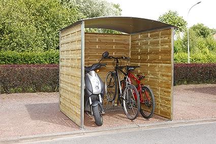 Caseta de madera para guardar bicicletas