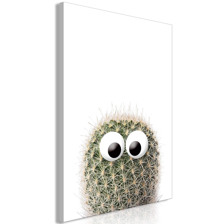decomonkey Akustikbild Kaktus 80x120 cm 1 Teilig Bilder Leinwandbilder Wandbilder XXL Schallschlucker Schallschutz Akustikdämmung Wandbild Deko leise Pflanzen