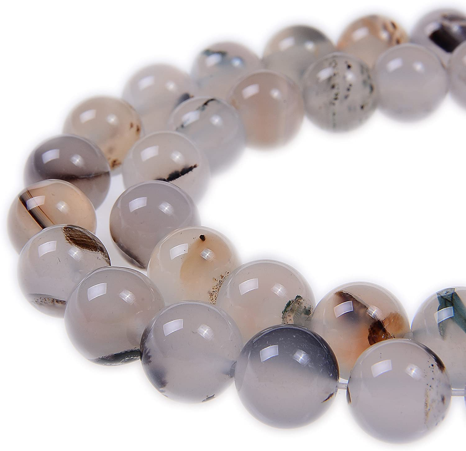 Natural Gem Angelite Stone Round Loose Beads For Jewelry Making 4mm 12mm