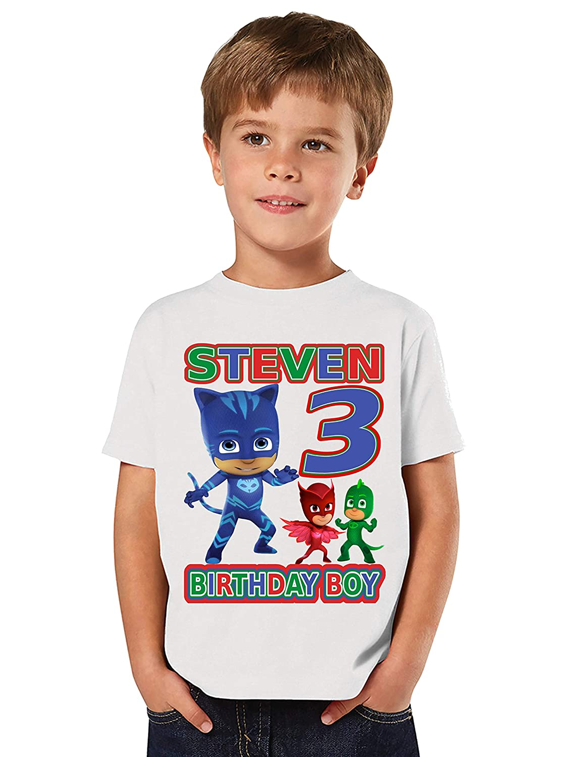 Amazon Com Connor Catboy Pj Masks Birthday Shirt Pj Masks Catboy Birthday Party Add Any Name And Age Family Matching Shirts Boy Birthday Shirts Pj Masks Birthday Shirt Pj Masks Boys 2 Handmade
