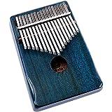 Walter. D Mahagoni Ton Holz Kalimba, professionelle 17Schlüssel Akustik Finger Daumen Piano Musik Geschenk (Ocean Blau)