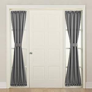 Sun Zero 50218 Barrow Front Door Sidelight Curtain Panel with Tie Back, 26
