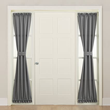 Amazon Sun Zero Barrow Front Door Sidelight Curtain Panel With