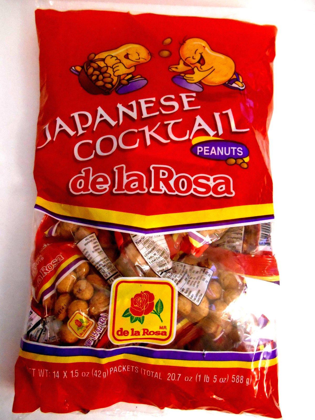 De La Rosa Cacahuate Estilo Japones Cocktail Japanese Peanuts 14 Pcs Mex Candy