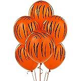 6 Pack Jungle Tiger Stripes Latex Balloons