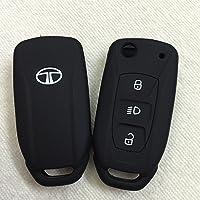Driversion WV01RCA08049 Silicone Flip Key Cover for Tata Safari Storme/Zest/Bolt/Tiago/Zica