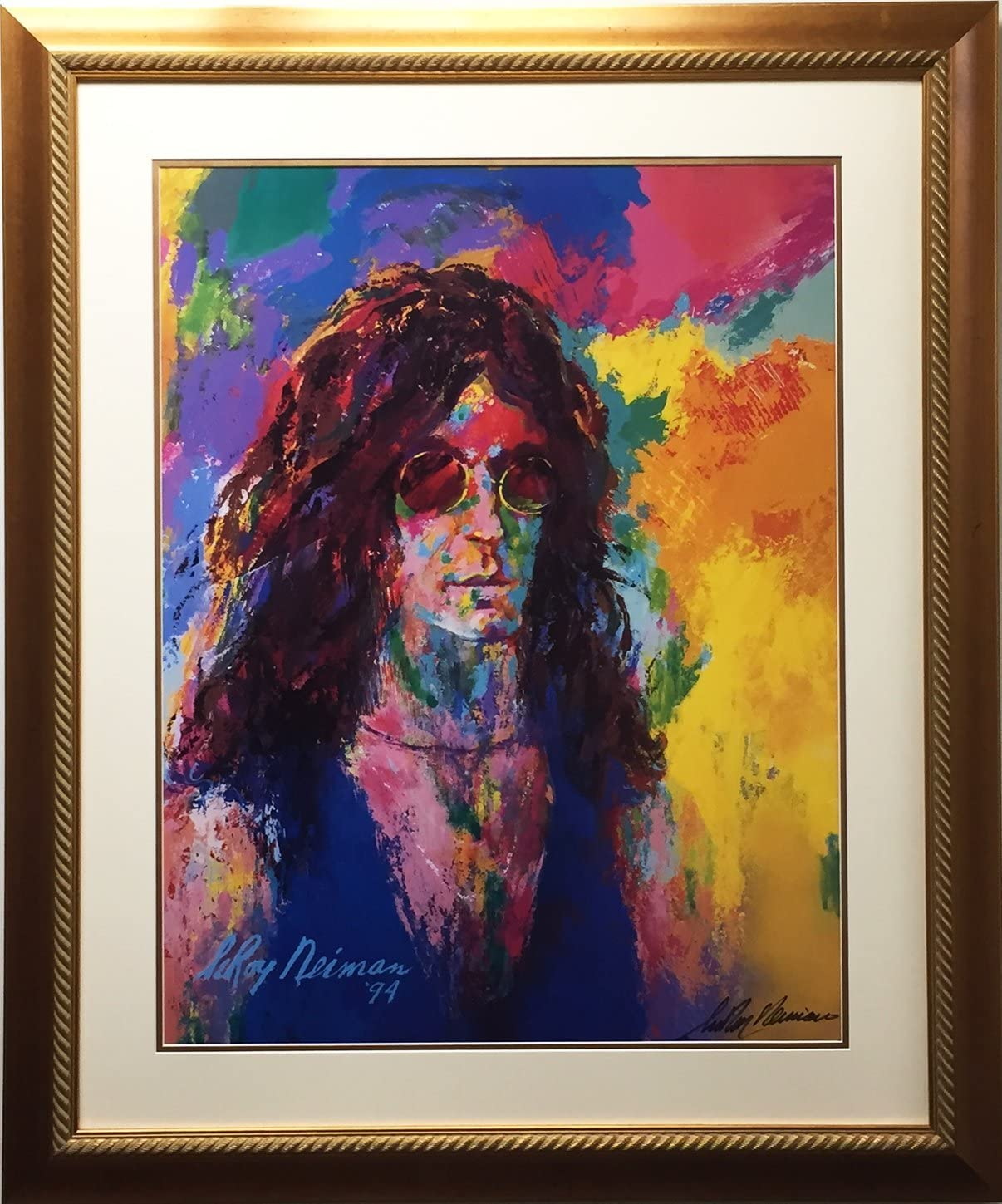 Amazon Com Leroy Neiman Howard Stern Newly Custom Framed Hand Signed Lithograph Sold Out Posters Prints