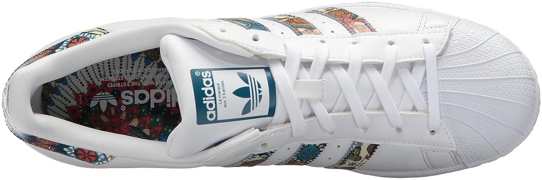 adidas Women's 6.5 Originals Superstar B01MT1C2XB 6.5 Women's B(M) US White/White/Noble Teal a763d9