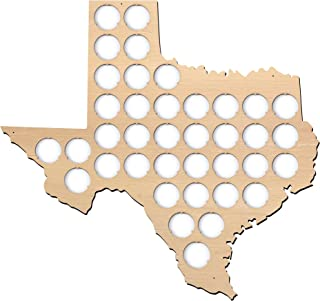 product image for All States Beer Cap Map Texas - 14x13 inches - 38 caps - Texas Beer Cap Holder - Plywood