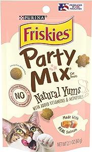 Purina Friskies Party Mix Naturals Adult Cat Treats - (10) 2.1 oz. Pouches