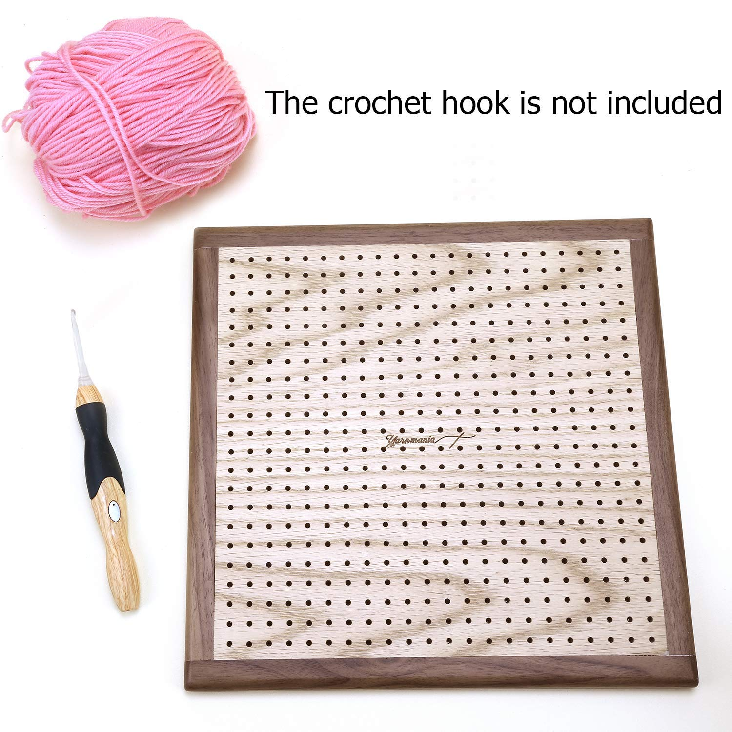 Yarn Mania - Premium Blocking Boards for Knitting with Grids - Handcrafted Wood Crochet Blocking Board with 20 Stainless Steel Pins (9 inches) by Yarn Mania (Image #7)