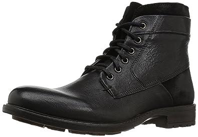 Steve Madden Men's Hardin Combat Boot, Black Leather, ...