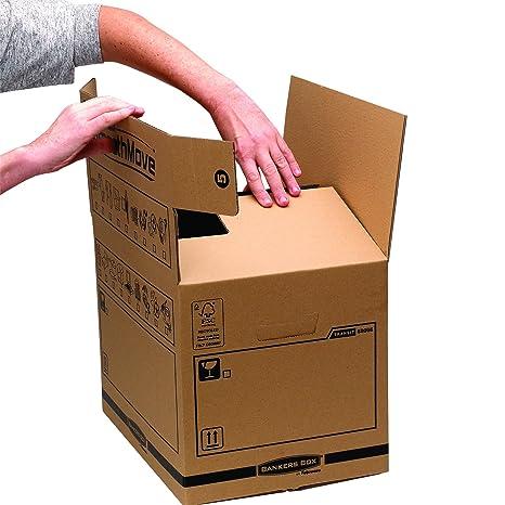 Bankers Box 62056 - Pack de 10 cajas de transporte y mudanza, medianas, color beige: Amazon.es: Oficina y papelería