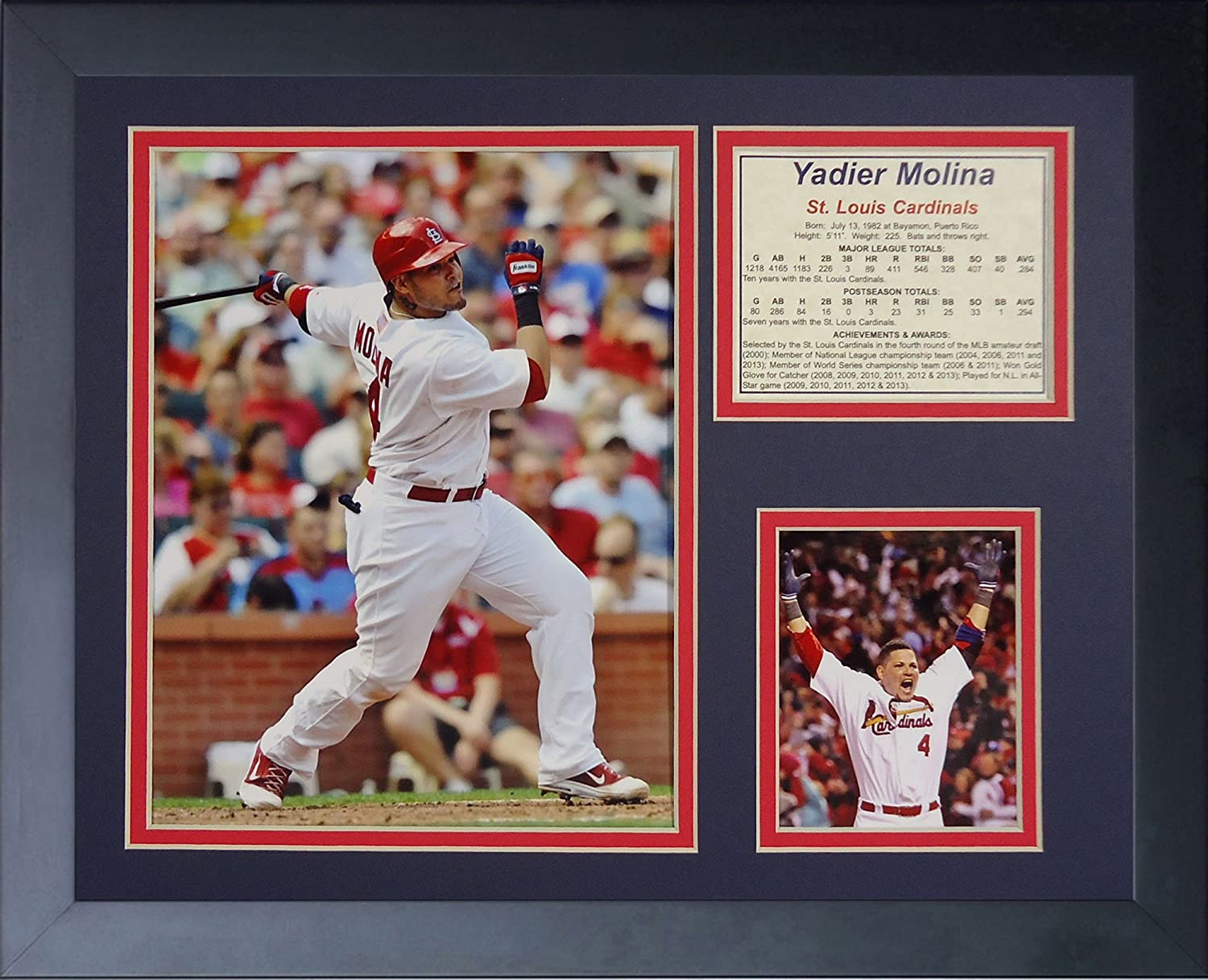 Legends Never Die Yadier Molina Framed Photo Collage 11 x 14-Inch