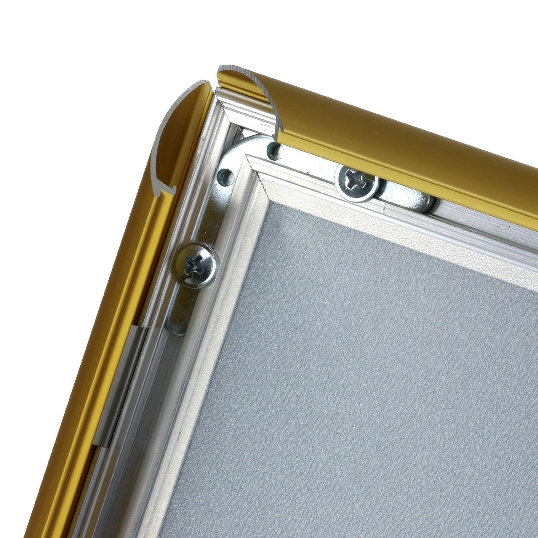 kaufdeinschild A4 Klapprahmen Gold auf Gehrung Snap Frame 25mm ...