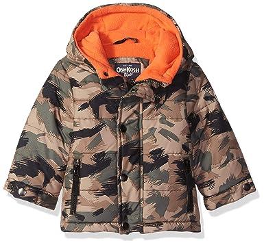 6f50b85b0fb7 Amazon.com  OshKosh B Gosh Baby Boys Little Man Puffer Jacket  Clothing