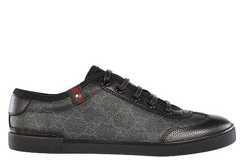 Gucci zapatos zapatillas de deporte mujer en piel nuevo gg plus negro EU 40 204283 FP1G0 1073: Amazon.es: Zapatos y complementos