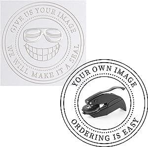 Embosser - Custom Logo Image Seal Embosser Custom Notary Embosser Stamp, Book Embosser, Library Stamp Embosser Stamp Seal Custom Paper Official Business Logo or Image ( 1 5/8