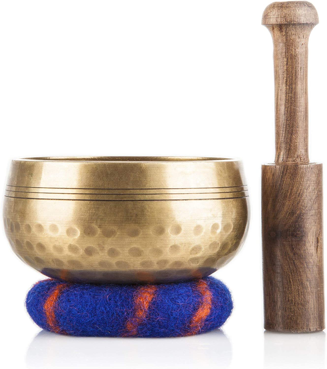 Tibetan Singing Bowl Set - Meditation Sound Bowl Handcrafted in Nepal for Healing and Mindfulness