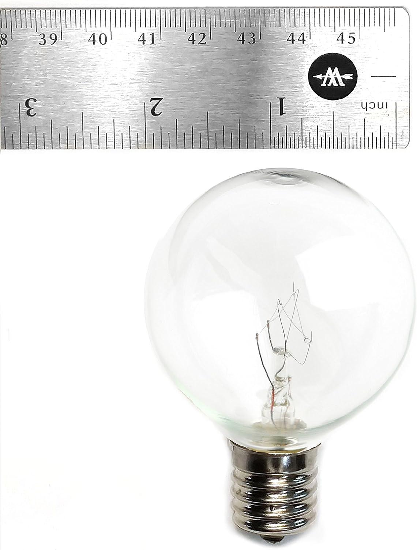 Amazon Com Box Of 25 G50 Clear C9 E17 5 8 Intermediate Base 2 Inch 7 Watt Replacement Light Bulbs Home Improvement