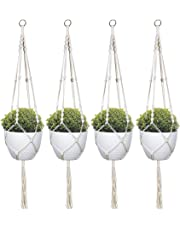 TIMEYARD Macrame Plant Hanger Indoor Outdoor Wall Hanging Planter Basket - Cotton Rope Modern Boho Home Décor