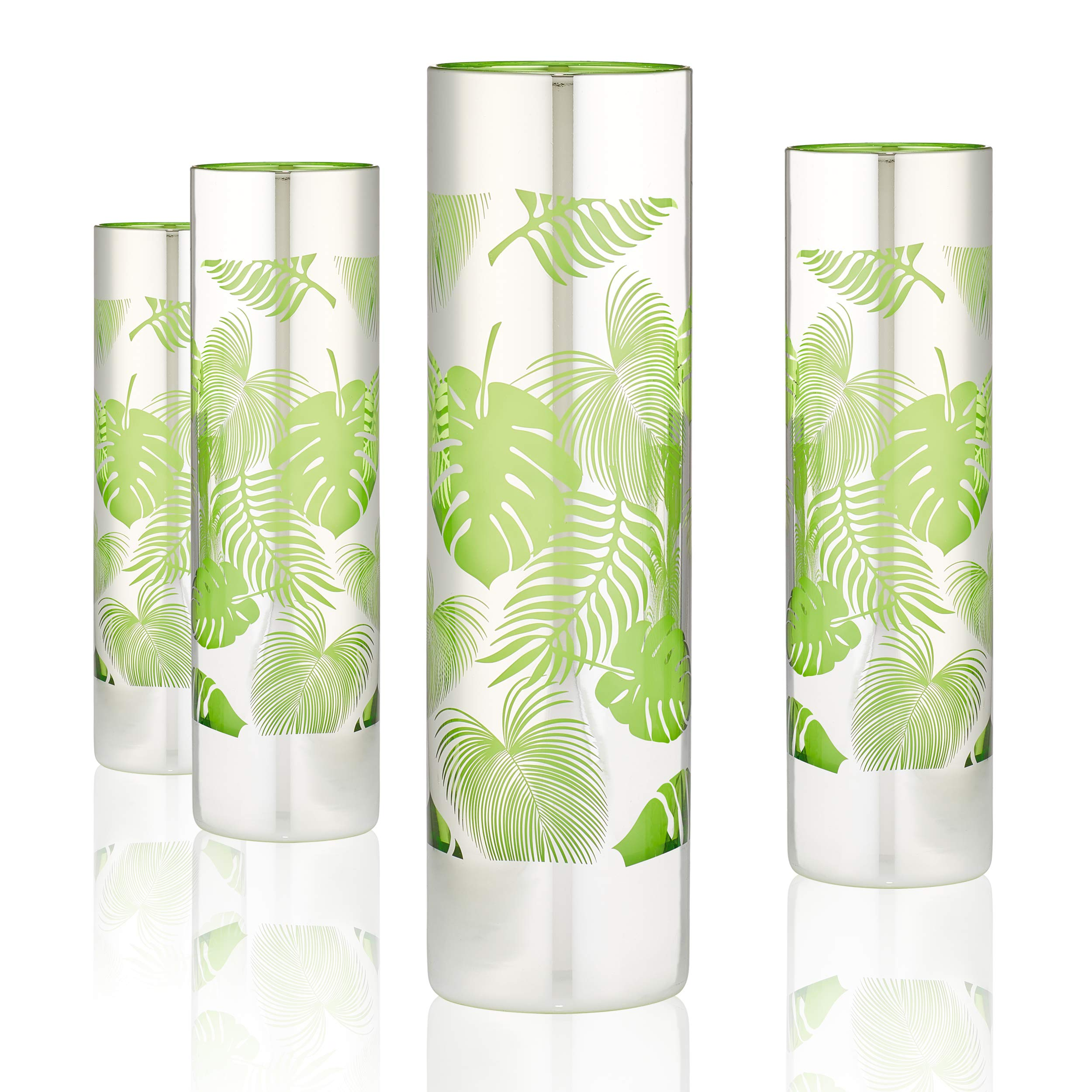 Tropical Leaves Tom Collins/Mojito/Cooler Glass