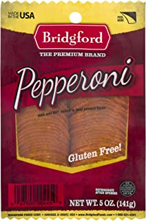 product image for Bridgford Sliced Pepperoni, Gluten Free, Made in the USA, 5 Oz, Pack of 3