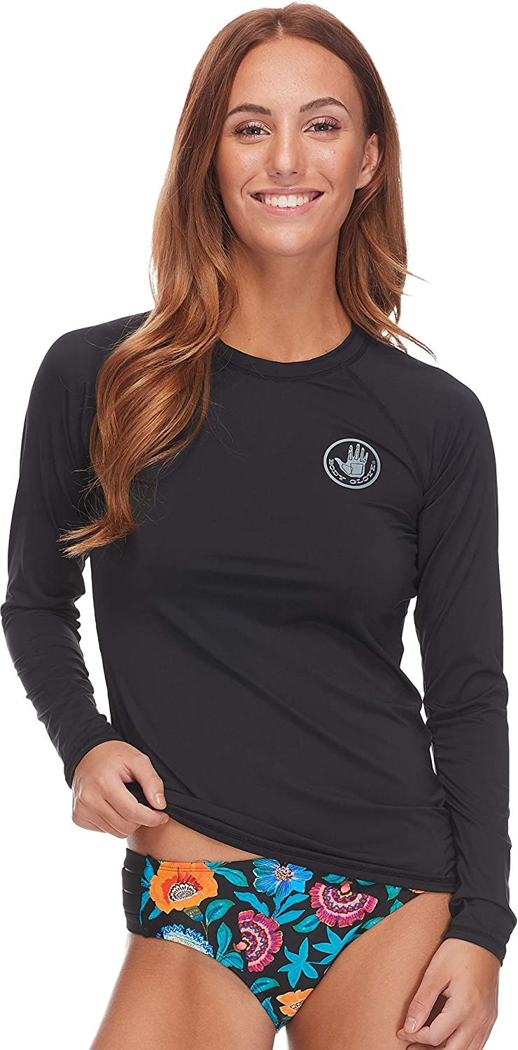 Body Glove Women's Smoothies Sleek Solid Long Sleeve Rashguard with UPF 50+