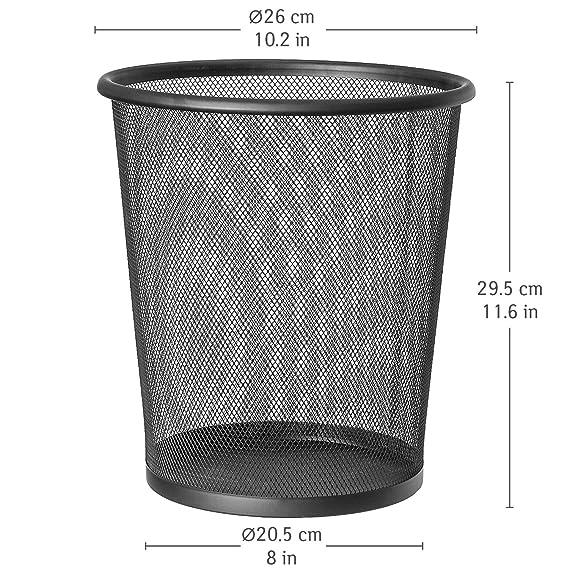FOKOM Papelera Cuero Cubos de basura Impermeable 31,5CM