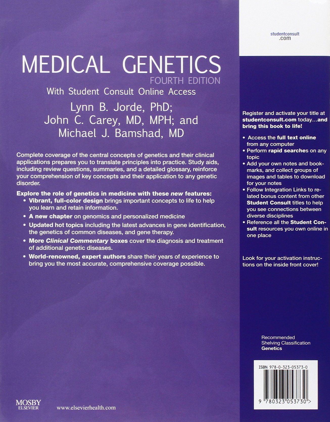 medical genetics student consult online access e amazon medical genetics student consult online access 4e amazon co uk lynn b jorde phd john c carey md mph michael j bamshad md 9780323053730 books