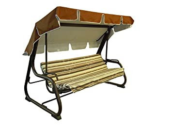 Reti Gritti - Recambio completo (incluido toldo para el techo) para balancín de 4 plazas (170 cm)., 170-beige: Amazon.es: Jardín
