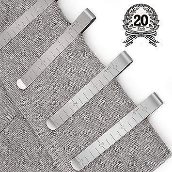 Juego de 20 clips de costura de acero inoxidable de 7,6 cm ...