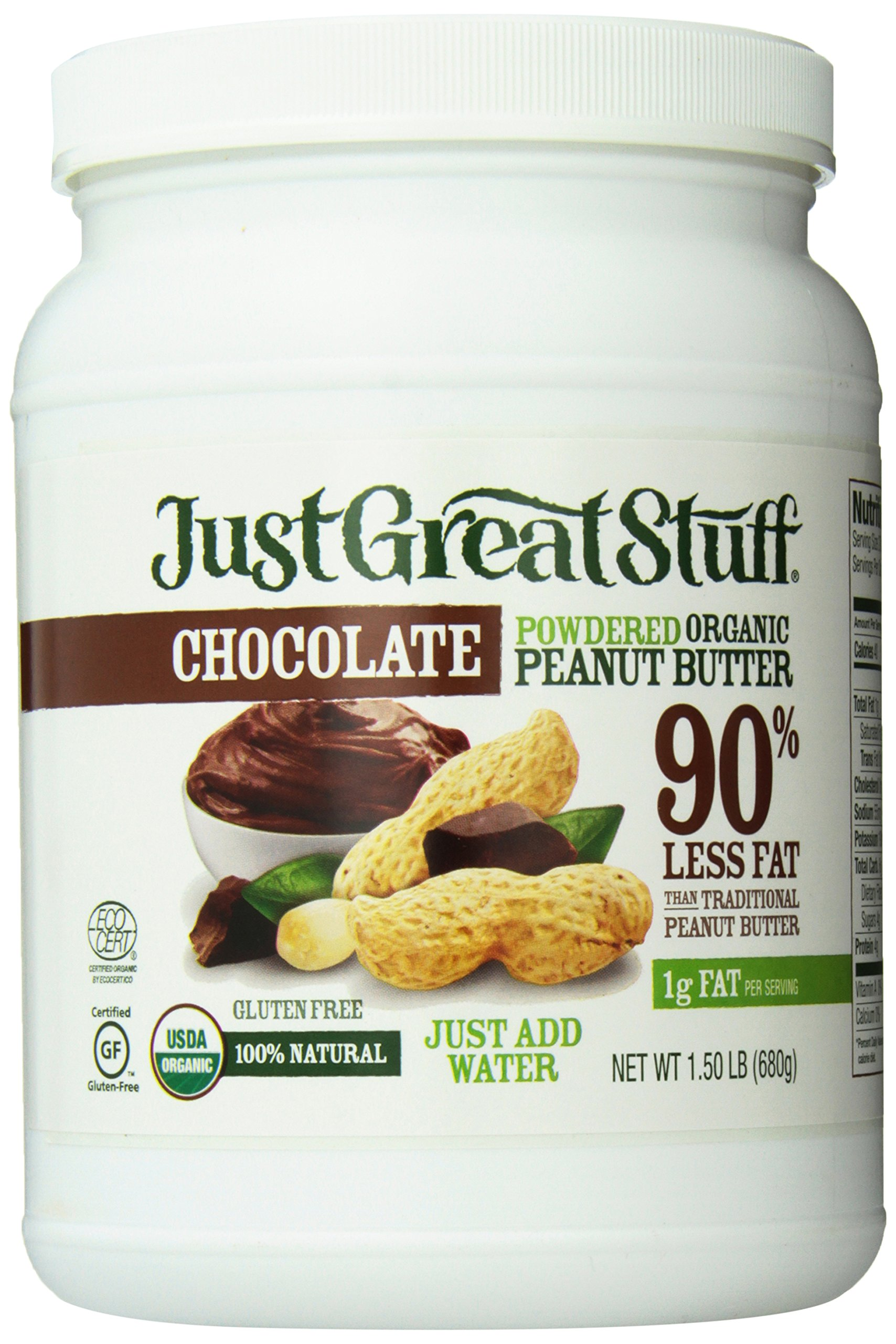 Betty Lou's Organic Chocolate Powdered Peanut Butter, 1.5 Pound (Packaging May Vary)