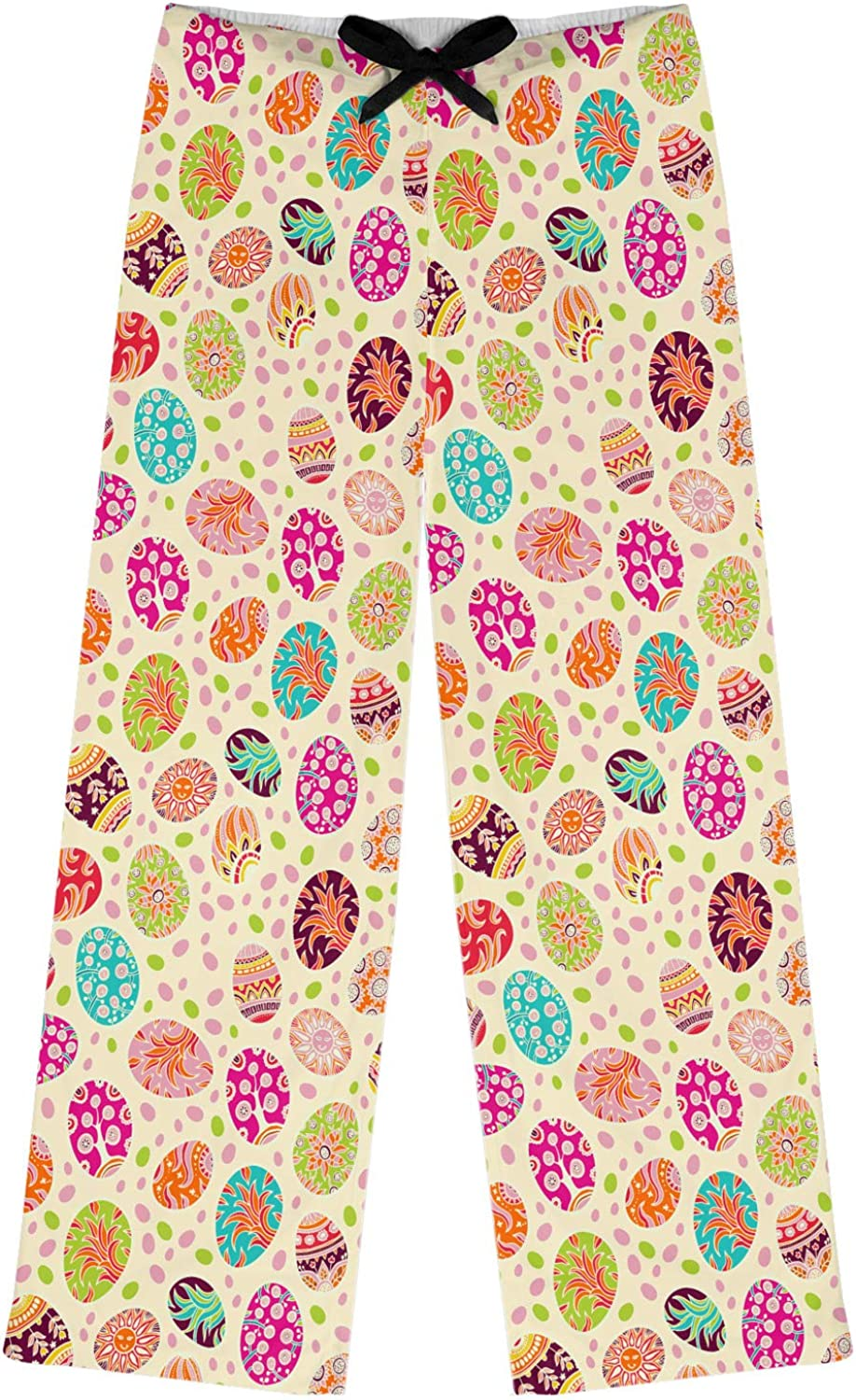 Personalized RNK Shops Easter Eggs Womens Pajama Pants XL Yellow