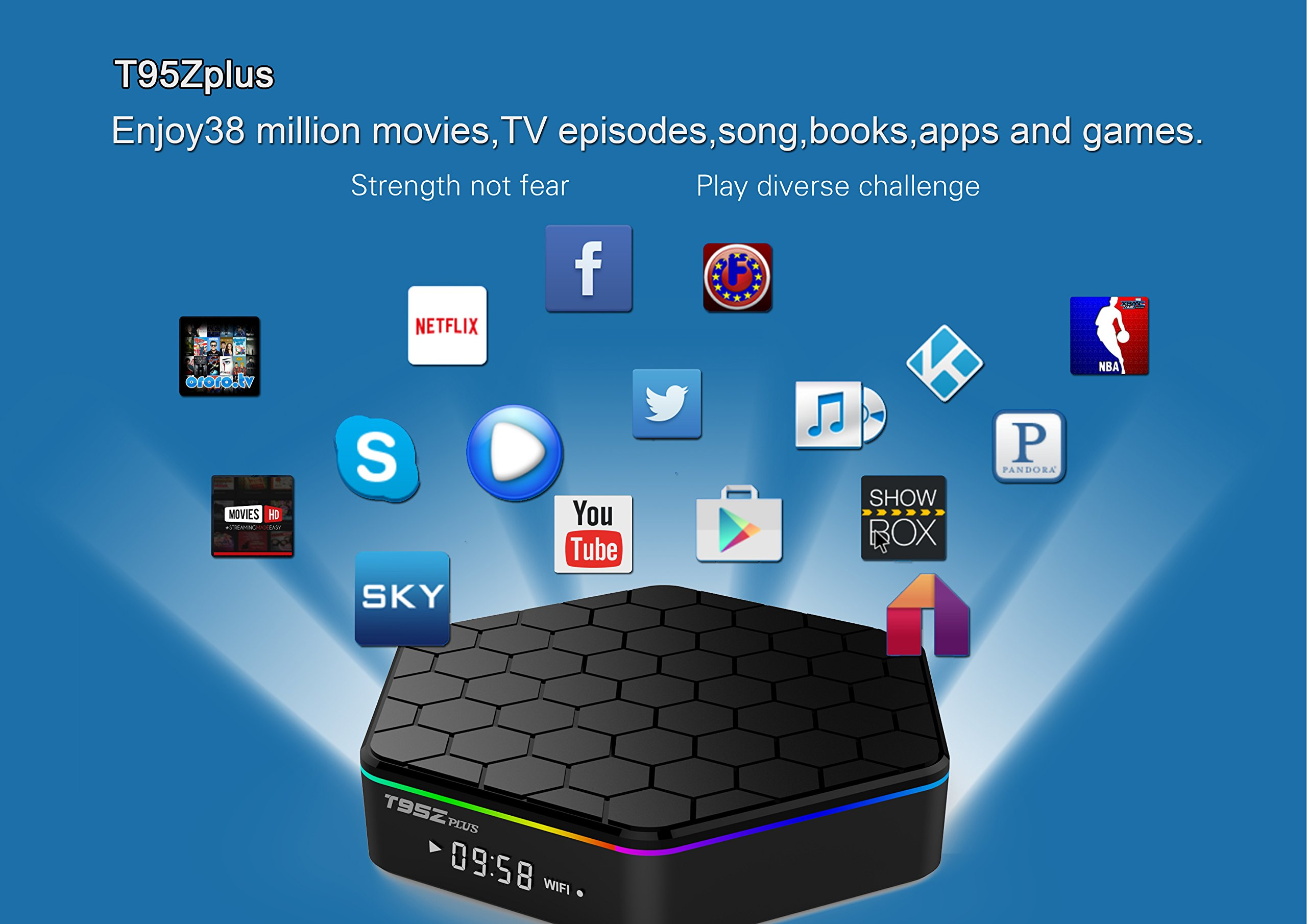 2018 High Configuration SeekEdge Android TV Box with 64Bit Amlogic S912 8-core CPU 2GB Ram+16GB ROM EMMC and Supporting 4K (60Hz) Full HD/H.265/2.4G+5G Dual-Band WiFi/1000M LAN